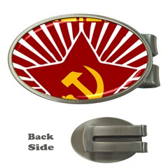 hammer and sickle cccp Money Clip (Oval)