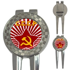 hammer and sickle cccp 3-in-1 Golf Divot