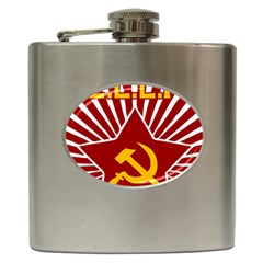 hammer and sickle cccp Hip Flask (6 oz)