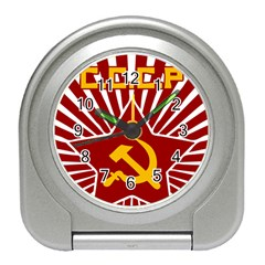 hammer and sickle cccp Travel Alarm Clock