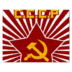 hammer and sickle cccp Jigsaw Puzzle (Rectangular)
