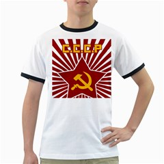 hammer and sickle cccp Ringer T
