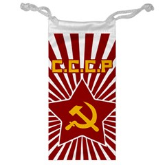 hammer and sickle cccp Jewelry Bag