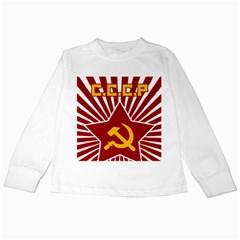 hammer and sickle cccp Kids Long Sleeve T-Shirt
