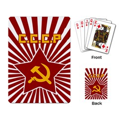 hammer and sickle cccp Playing Cards Single Design