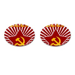hammer and sickle cccp Cufflinks (Oval)