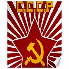 hammer and sickle cccp Canvas 16  x 20