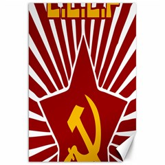 hammer and sickle cccp Canvas 20  x 30