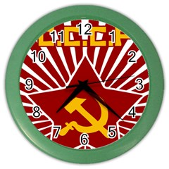 Hammer And Sickle Cccp Color Wall Clock