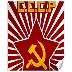 Hammer And Sickle Cccp Canvas 11  X 14