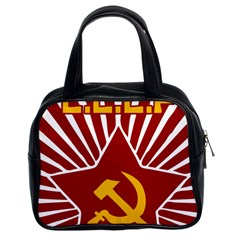 hammer and sickle cccp Classic Handbag (Two Sides)