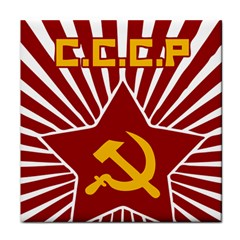 hammer and sickle cccp Face Towel