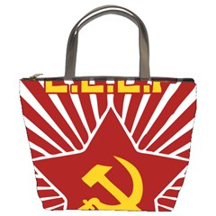 hammer and sickle cccp Bucket Bag