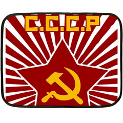 hammer and sickle cccp Mini Fleece Blanket(Two Sides)