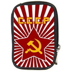 hammer and sickle cccp Compact Camera Leather Case