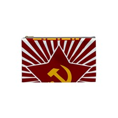 hammer and sickle cccp Cosmetic Bag (Small)