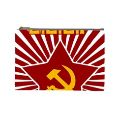 Hammer And Sickle Cccp Cosmetic Bag (large)