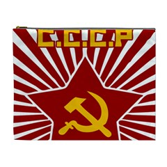 hammer and sickle cccp Cosmetic Bag (XL)