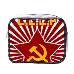 hammer and sickle cccp Mini Toiletries Bag (One Side)