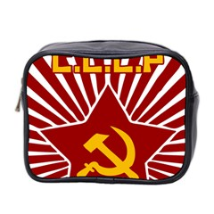 hammer and sickle cccp Mini Toiletries Bag (Two Sides)