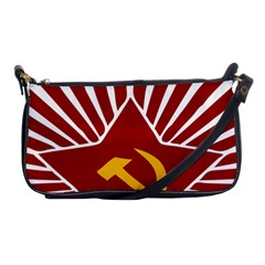 Hammer And Sickle Cccp Shoulder Clutch Bag