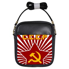 hammer and sickle cccp Girls Sling Bag