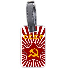 hammer and sickle cccp Luggage Tag (one side)