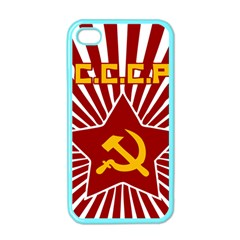 hammer and sickle cccp Apple iPhone 4 Case (Color)