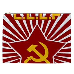 hammer and sickle cccp Cosmetic Bag (XXL)