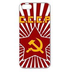 hammer and sickle cccp Apple Seamless iPhone 5 Case (Clear)