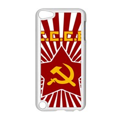 Hammer And Sickle Cccp Apple Ipod Touch 5 Case (white)