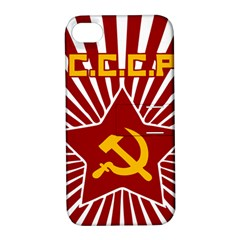hammer and sickle cccp Apple iPhone 4/4S Hardshell Case with Stand
