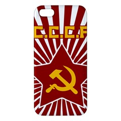 hammer and sickle cccp iPhone 5 Premium Hardshell Case