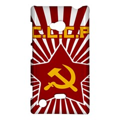 hammer and sickle cccp Nokia Lumia 720 Hardshell Case