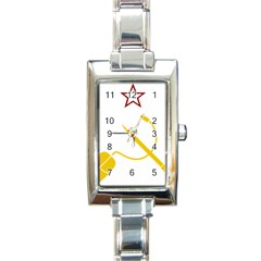 Cccp Mouse Pen Rectangular Italian Charm Watch