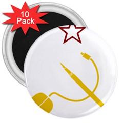 Cccp Mouse Pen 3  Button Magnet (10 Pack)