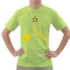 Cccp Mouse Pen Mens  T-shirt (Green)