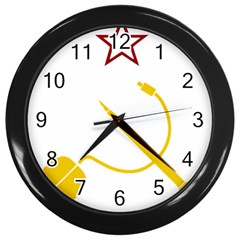Cccp Mouse Pen Wall Clock (Black)