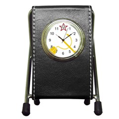 Cccp Mouse Pen Stationery Holder Clock