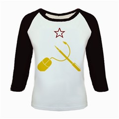 Cccp Mouse Pen Women s Long Cap Sleeve T-Shirt