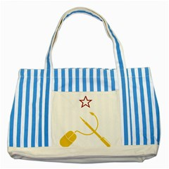 Cccp Mouse Pen Blue Striped Tote Bag