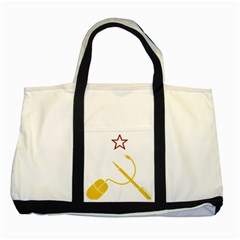 Cccp Mouse Pen Two Toned Tote Bag
