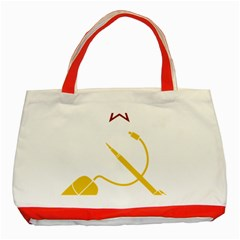 Cccp Mouse Pen Classic Tote Bag (Red)