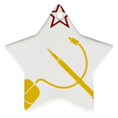 Cccp Mouse Pen Star Ornament (two Sides)