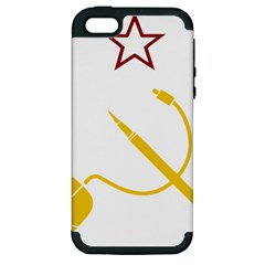 Cccp Mouse Pen Apple Iphone 5 Hardshell Case (pc+silicone)