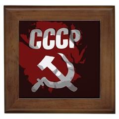 Cccp Soviet union flag Framed Tile