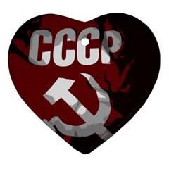 Cccp Soviet union flag Ornament (Heart)