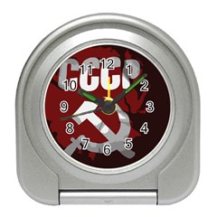 Cccp Soviet union flag Travel Alarm Clock