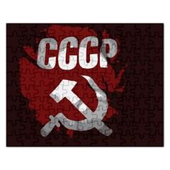 Cccp Soviet union flag Jigsaw Puzzle (Rectangular)
