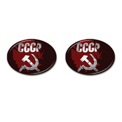 Cccp Soviet union flag Cufflinks (Oval)
